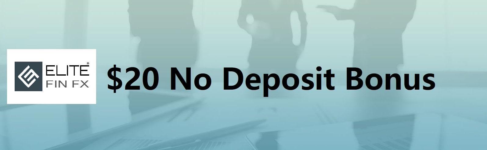 No Deposit Bonus– EliteFinFX