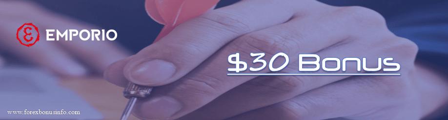 30 USD No Deposit Bonus – EmporioTrading