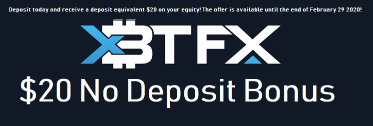 $20 No Deposits Bonus  -XBTFX